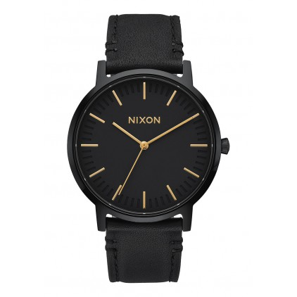 NIXON RELOJ PORTER LEATHER ALL BLACK/GOLD