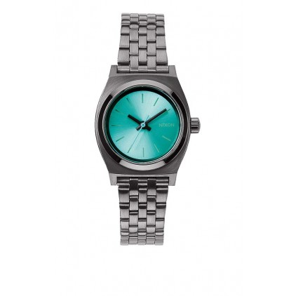 NIXON RELOJ SMALL TIME TELLER GUNMETAL LIGHT BLUE