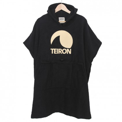 TEIRON PONCHO LOGO PALE YELLOW