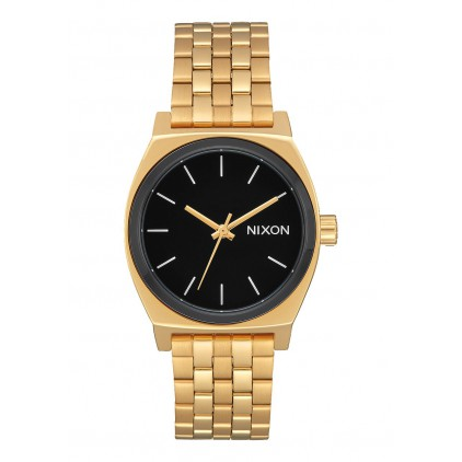 NIXON RELOJ MEDIUM TIME TELLER GOLD BLACK WHITE