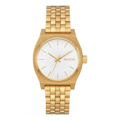 NIXON RELOJ MEDIUM TIME TELLER ALL GOLD WHITE