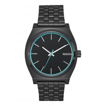NIXON RELOJ TIME TELLER ALL BLACK BLUE