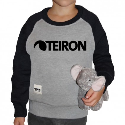 TEIRON SUDADERA CREW LOGO BLACK JUNIOR