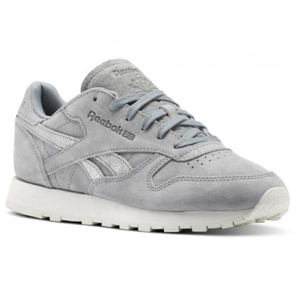 REEBOK ZAPAS CLASSIC LEATHER SHIMMER GREY SILVER
