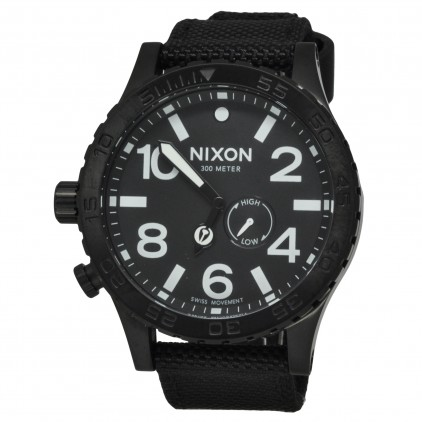 NIXON RELOJ 51-30 TIDE ALL BLACK NYLON