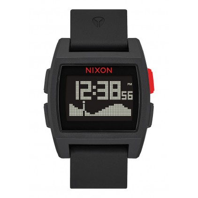 NIXON RELOJ BASE TIDE BLACK/RED 38MM