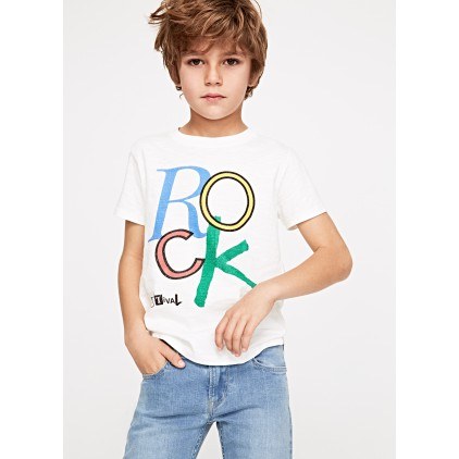 PEPE JEANS CAMISETA FITE JR OFF WHITE