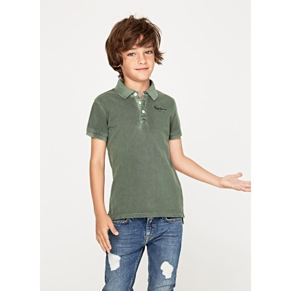 PEPE JEANS POLO OLIVER JR LEAF GREEN