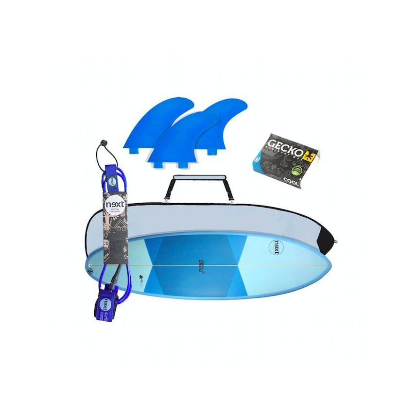 PACK INICIACIÓN AL SURF ( tabla de surf de iniciación y accesorios de surf )