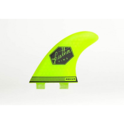 FEATHER FINS QUILLAS ULTRALIGHT AMARILLAS SISTEMA FCS