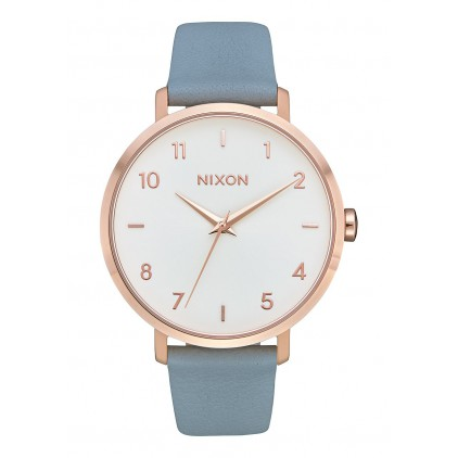 NIXON RELOJ ARROW LEATHER ROSE GOLD/BLUE