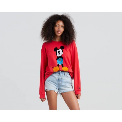 LEVIS SUDADERA MICKEY GRAPHIC SHOULDER RED