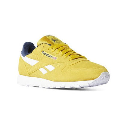 REEBOK ZAPAS CLASSIC LEATHER YELLOW COLL NAVY