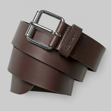 CARHARTT CINTURON SCRIPT BELT DARK BROWN SILVER