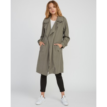 RVCA TRENCH MAC DUSTY OLIVE