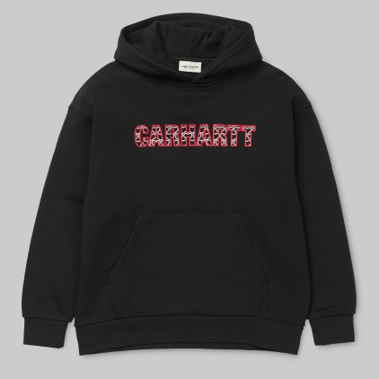 CARHARTT WIP SUDADERA W' HOODED HEARTS BLACK