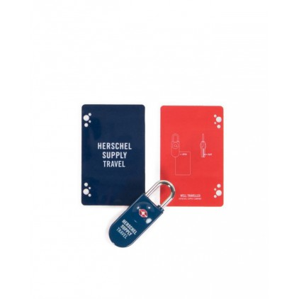 HERSCHEL CANDADO TSA CARD LOCK NAVY/ RED