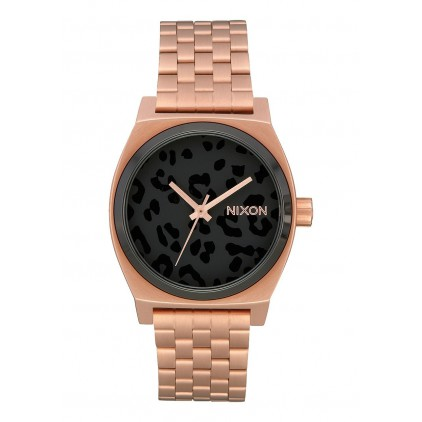 NIXON RELOJ TIME TELLER ALL ROSE GOLD/BLACK/CHEETAH