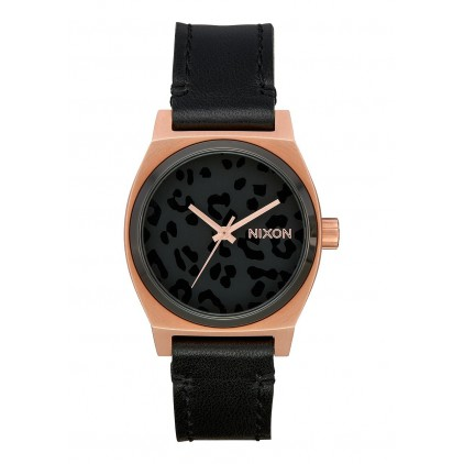 NIXON RELOJ MEDIUM TIME TELLER ALL ROSE GOLD/BLACK/CHEETAH