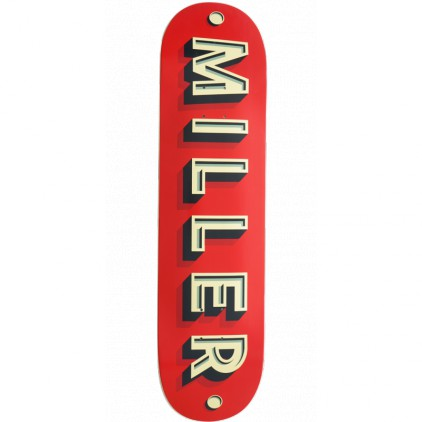 MILLER TABLA SKATEBOARD CORPORATE 8.5'' X 32''