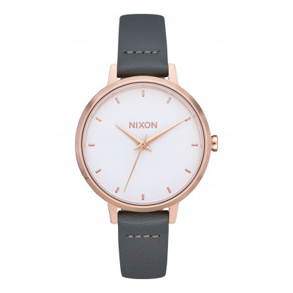 NIXON RELOJ MEDIUM KENSINGTON LEATHER BLACK