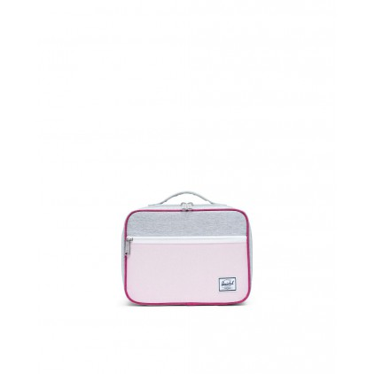 HERSCHEL LUNCHBOX POP QUIZ PINK GREY