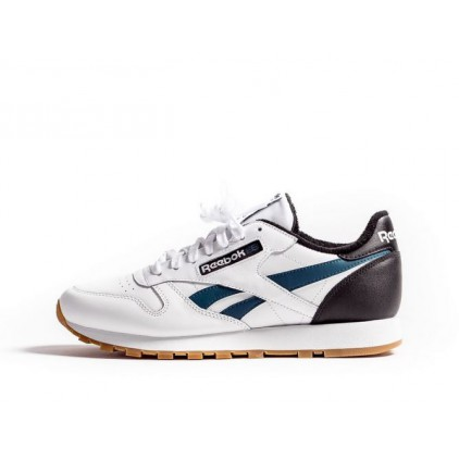 REEBOK ZAPAS CLASSIC LEATHER BLACK/GREEN