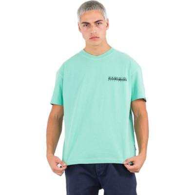 Camiseta Napapijri S-Yoik SS Verde Dusty
