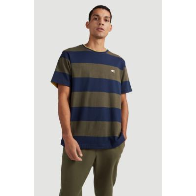 Camiseta Oneill Block Stripe Dark Green Melee